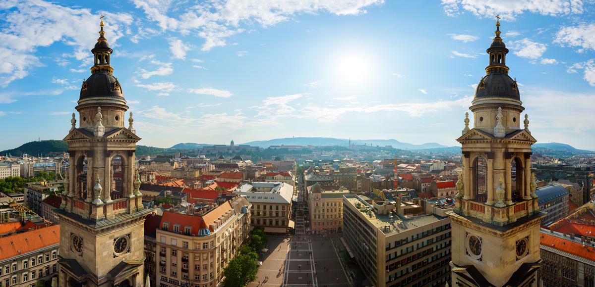 La vue de Budapest de la Basilique