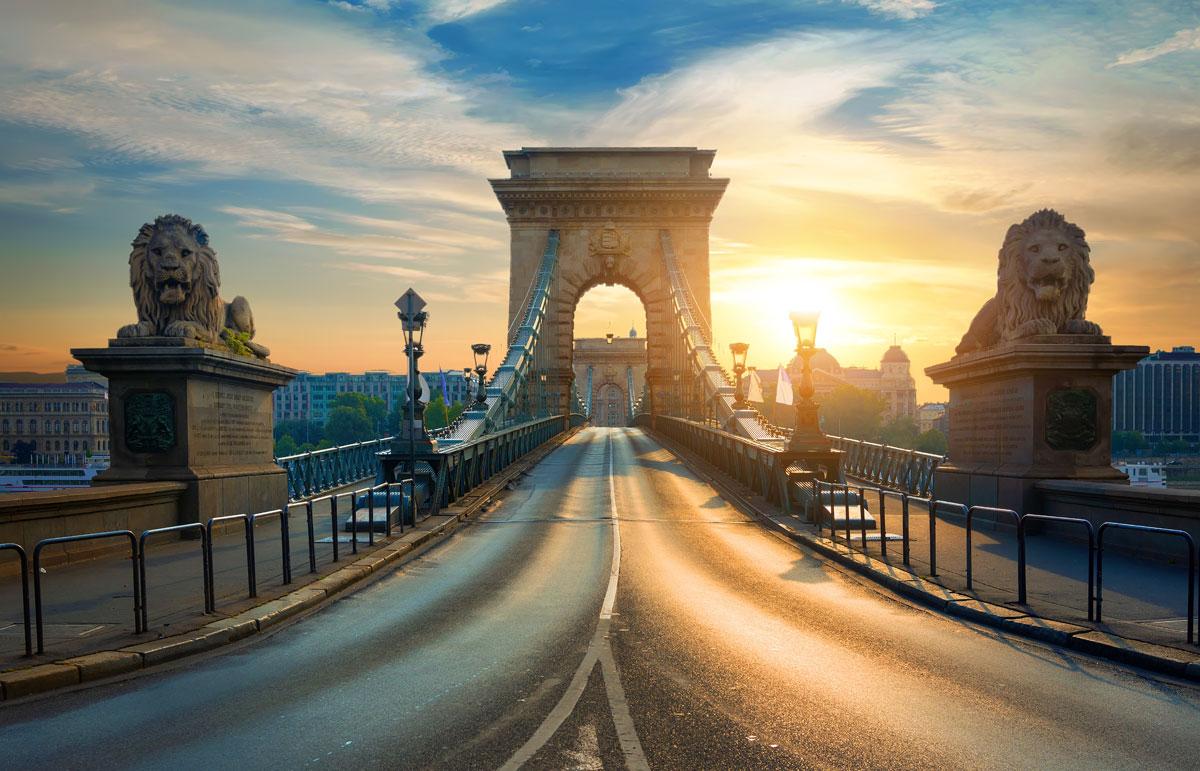Le Pont à chaînes á Budapest