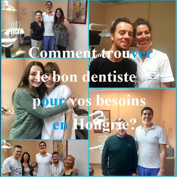 Photos des patients contents et sur leurs dentistes