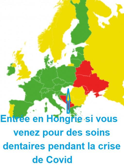 Les couleurs des pays européens pendant la Covide 19