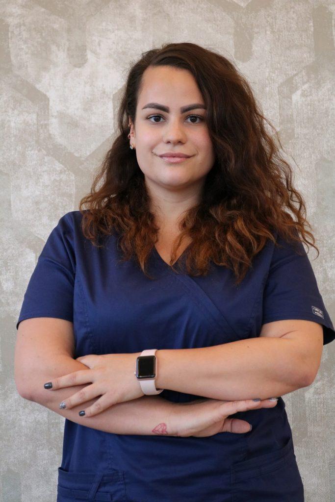 Photo sur une dentiste